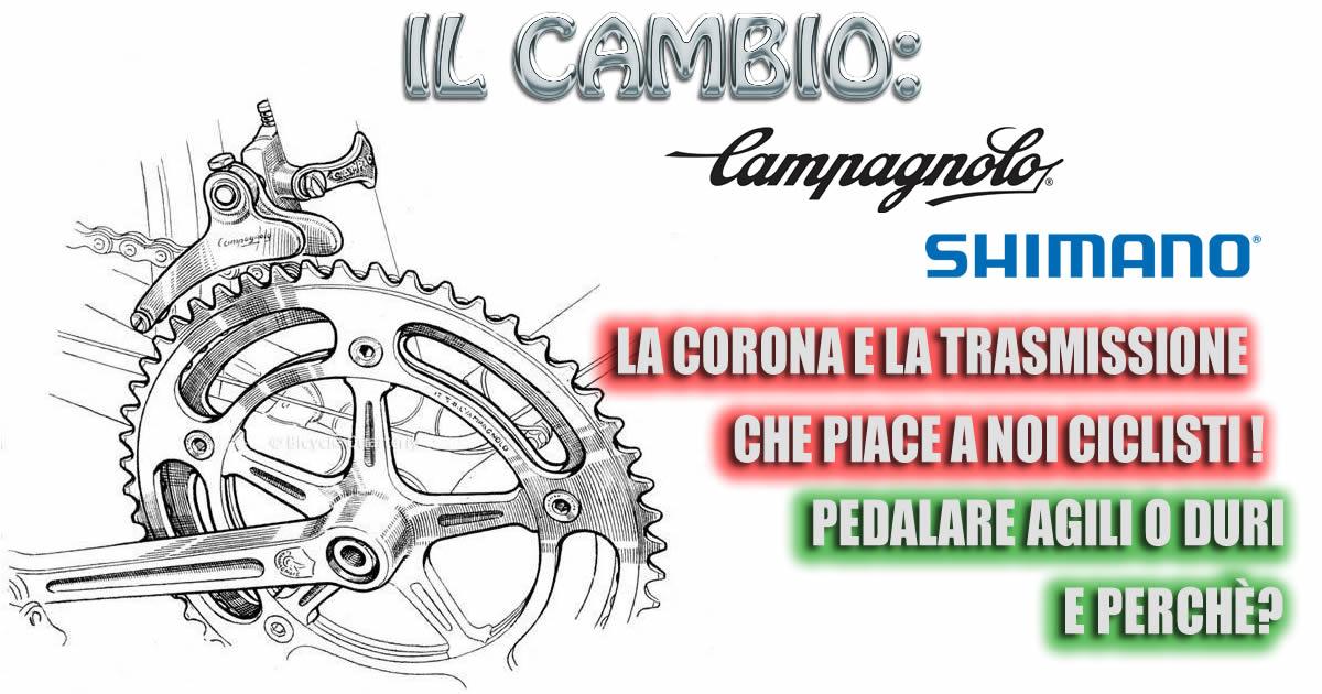 La corona e la trasmissione che piace a noi ciclisti