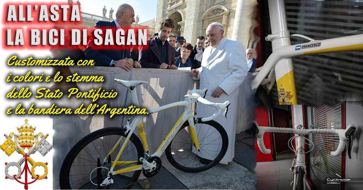 Bici di Peter Sagan Donata al Papa